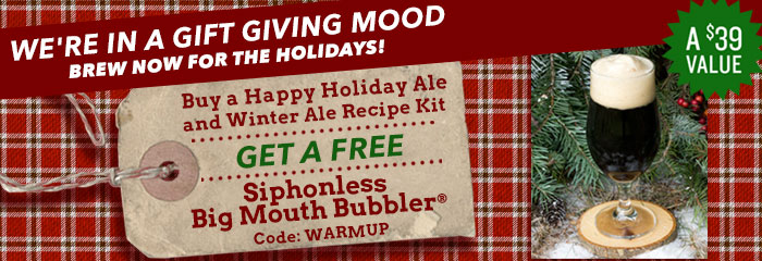 Free Siphonless Big Mouth Bubbler® when you buy Holiday Beer!